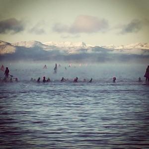Ironman Lake Tahoe Swim Start 27 Degrees